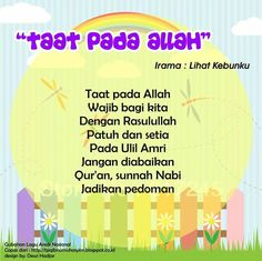 Taat pada Allah (original song Lihat Kebunku) Islam For Kids, Original Song, Kids Songs, Quran, Allah, Singing, Chart, Doa, Education
