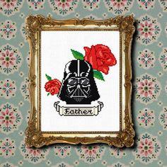 Darth Vader tattoo cross stitch PDF pattern