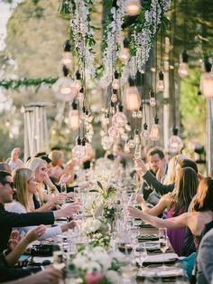 21 Stunning Examples of Wedding Lighting Decor That You Can DIY - Wedding Lighting Ideas and Inspiration - DIY Wedding Lighting - Wedding Lights - DIY Event Lighting Hanging Light Bulbs, Outdoor Hanging Lights, Hanging Light Fixtures, Outdoor Lighting, Diy Wedding Lighting, Event Lighting, Lighting Ideas, The Knot, Outdoor Wedding Reception