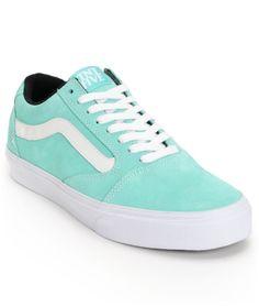 17978c5d3f Vans TNT 5 Seafoam Green   White Suede Skate Shoes