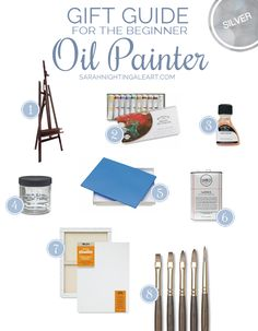 Gift Guide For The Beginner Oil Painter Draw and painting oil painting supplies - Oil Painting Oil Painting Supplies, Oil Painting Tips, Oil Painting For Beginners, Oil Painting Techniques, Painting Lessons, Art Techniques, Art Lessons, Painting & Drawing, Artist Supplies