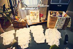 Onesie Making Station at Baby Shower