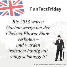 #FunFactFriday bei THE BRITISH SHOP: Bis 2013 waren Gartenzwerge bei der Chelsea Flower Show verboten – und wurden trotzdem häufig mit reingeschmuggelt!