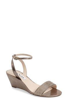 fc9ff76ab9928 Free shipping and returns on Nina  Novia  Embellished Wedge Sandal (Women)  at