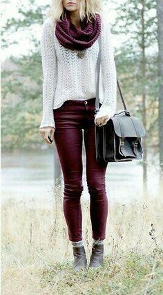 fall -burgundy pants