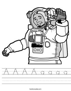 astronaut coloring page that you can customize and print for kids