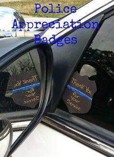 Thin Blue Line Crafts: Police Appreciation Badges
