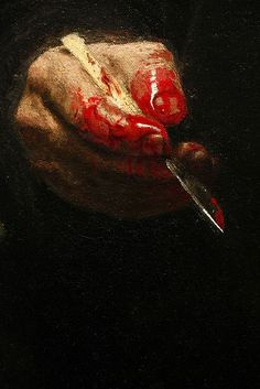 Select detail from The Gross Clinic by Thomas Eakins (Oil on canvas)