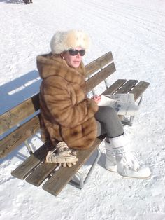 My girl in St Moritz