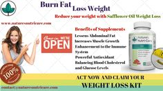 Safflower Oil Weight Loss - Nature's Nutri-Care Natural Fat Burning Supplements, Weight Loss Supplements, Fast Metabolism Diet, Metabolic Diet, Best Multivitamin For Men, Cla Safflower Oil, Conjugated Linoleic Acid, Fat Burning Pills, Herbal Weight Loss