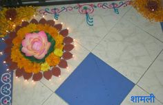 Latest  creative rangoli for festival or special occasion for corner decoration