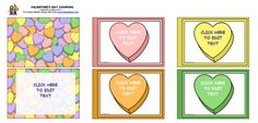 Valentine's Day printable coupons - can be edited as well.