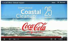 (Coke Code 38) 국제 연안 정화 단체와 제휴를 맺고 직원들이 일일이 정화활동에 자발적으로 참여하고 있답니다. 26,000명의 지원들이 203,000시간을 지원, 40개 나라 175개 장소에서 해안 정화 활동 진행중!