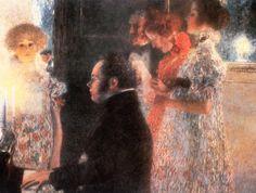 1899 Schubert at the Piano  ART & ARTISTS: Gustav Klimt - part 1