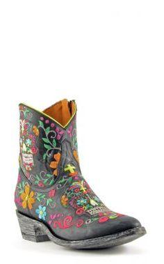 Womens Old Gringo Klak Zipper Boots Black #L1337-1 via @Allens Boots