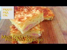Mais uma receita fácil, basta bater todos os ingredientes e levar ao forno. Essa torta de presunto e queijo é fantástica e serve para comer a qualquer hora.