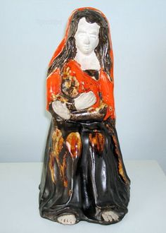 Eric Leaper large mother with child figurine