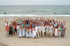 The #OBX is a popular and beautiful location for a beach #Wedding!