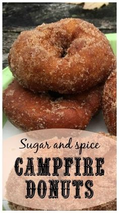 With sugar and spice and everything nice, these campfire donuts are sure to delight your fellow campers on your next camping trip. meals for camping Campfire donuts for your next campout Dutch Oven Cooking, Dutch Oven Recipes, Cooking Recipes, Camp Oven Recipes, Pie Iron Cooking, Dutch Ovens, Easy Campfire Recipes, Dutch Oven Chicken, Camping Meals