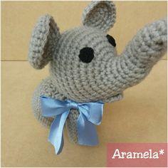 Elefante mini amigurumi (con patrón libre)