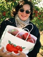 Shopping at The Milk Pail apple orchard in Water Mill, New York.