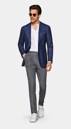 Smart Casual Suit, Casual Chic, Mens Fashion Suits, Man Fashion, Suit Supply, Slim Fit Jackets, Stylish Mens Outfits, Salon Style, Men Shirts