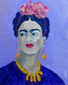 Mike White Original 10x8 Oil Painting.Frida Kahlo..Mexican Artist/Icon. Portrait #Impressionism For sale on eBay. SOLD