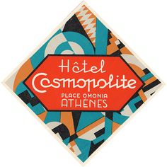 Hôtel Cosmopolite, Place Omonia, Athen