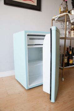 Today I'm going to share a mini fridge makeover that I recently completed.  It all started because my coworkers and I wanted a communal fridge in our workspace, but were having trouble findin…