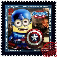 Capitán América versión Minion.