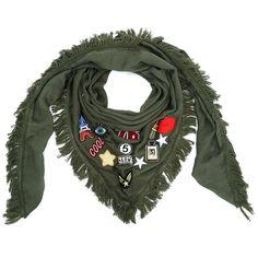 Sjaal met patches green