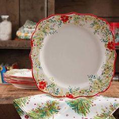 "The Pioneer Woman 10.75"" Dinner Plates, Set of 4 - Walmart.com"