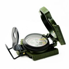 Denshine® Lensatic Compass Military Camping Hiking Army Style Survival Marching Metal Army Green with a Second Magnifier Helping Read the Magnetic Heading (Green) *** Find out more about the great product at the image link.