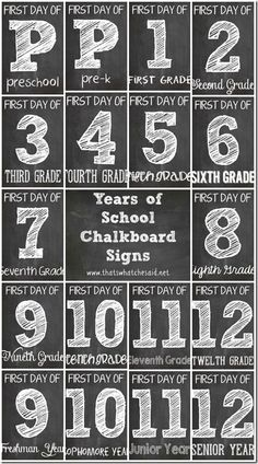 First Day of School Chalkbaord Printables!  #backtoschool #freeprintables