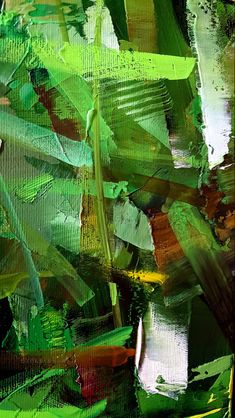 Artist : Zoltan Suhaj Hibiscus, Plant Leaves, Fine Art, Canvas, Create, Modern, Artist, Plants, Painting