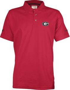 Georiga S/S Solid Northfork Red Polo $44.00