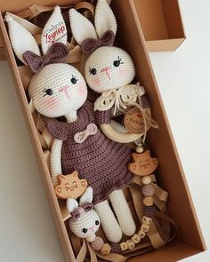 Best Picture For mainan bayi Baby Toys For Your Taste You are looking for something, and it is going to tell you exactly what you are looking for, and you didn't find that picture. Crochet Baby Toys, Crochet Bunny, Crochet Dolls, Crochet Birds, Crochet Food, Knitted Dolls, Crochet Animals, 9 Month Baby Toys, Baby Toy Storage