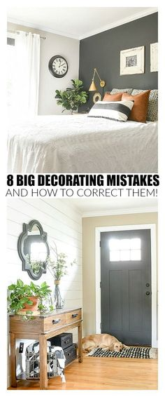 Do you get overwhelmed when you think about decorating your home? Are you frustrated that it's not a space you love? Chances are you're making decorating mistakes that you don't even realize you're making. The good news is, these mistakes are easy to fix with these simple decorating tips!