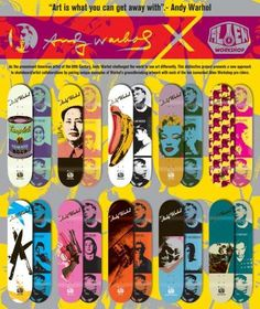 Alien Workshop Designs Channel Andy Warhol #popart trendhunter.com