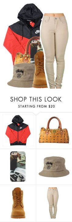 """""""''And I'm too turnt, when I shoot, swear I won't miss, ayy''"""" by shilohluvsu ❤ liked on Polyvore featuring NIKE, MCM, Stussy, Timberland, women's clothing, women's fashion, women, female, woman and misses"""