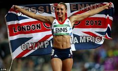 Reach for the stars: Jessica Ennis landed the Olympic heptathlon in the summer