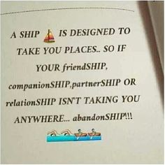 Abandon that ship!