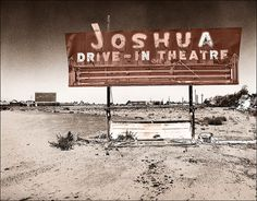 Joshua Drive-In Theatre-Joshua Drive-In off old Route 66 in Victorville, California.  Now a car dealership.--