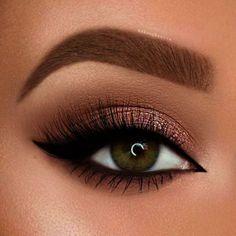 51 Best Eyeshadow Makeup Ideas for Brown Eyes - Make-up Ideen - Eye Makeup Makeup Eye Looks, Blue Eye Makeup, Eye Makeup Tips, Eyeshadow Makeup, Beauty Makeup, Makeup Ideas, Eyeshadow Ideas, Bronze Makeup, Makeup For Brown Skin