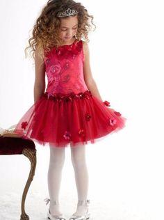 Biscotti Red Holiday Dress Rose Rhapsody