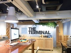 Receptionist should be as friendly as this one. The Terminal in Harajuku.  Coworking space.