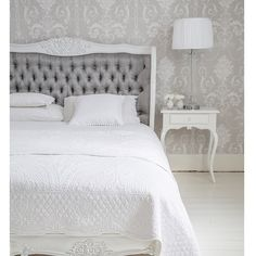 LOVE! Too bad I'm not in the UK...Bergerac Silk Upholstered Bed by The French Bedroom Company