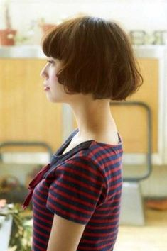 15 Best French Bob Hairstyles: #3. Cute Brown French Bob Hair