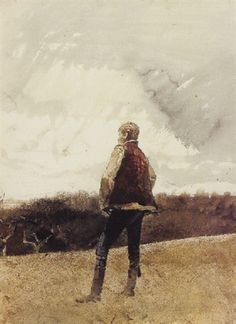 Rain Clouds - Andrew Wyeth , 1969 American 1917-2009 Watercolours