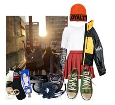 """""""//510//"""" by danielagreg ❤ liked on Polyvore featuring Dries Van Noten, Versace, Current Mood, Bobbi Brown Cosmetics, Topshop, Buly, Davines, GCDS, Call it SPRING and Converse"""